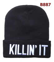 KILLIN IT BEANIE BLACK HATS WOOLLY BOY GRILS HAT UNISEX CHEAP FREE SHIPPING FOR SALE ONLINE B887