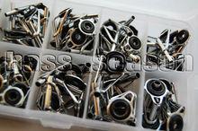 Free Shipping! 90 Pcs Fishing Rod Guide Tip Repair Kit Rod DIY Eye Rings(China (Mainland))