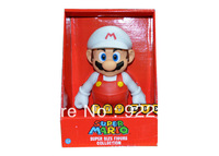 """freeshipping 1X Large PVC Super Mario Brothers Action Figure Mario White Hat 9""""/23cm"""