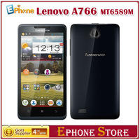 "Original 5"" Lenovo A766 MTK6589M Quad Core Phone 1.2Ghz Android 4.2 WCDMA 3G Multi Languages Russian Wifi GPS Free Shipping O#"