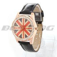 Women Girl Quartz Movement Wrist Watch Wristwatch Bracelet Black PU Band Strap