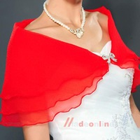 Wedding Bridal Organza Shawl Shrug Bolero Coat Delicate Tulle Party Wrap    M3AO