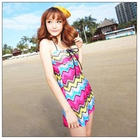 2013 female swimwear bikini belt skirt piece set sexy swimwear small push up
