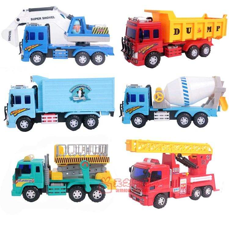 Engineering car inertia car Large mixer truck mining machine toy car model(China (Mainland))