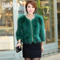 Free shipping 2013 fur coat raccoon fur front fly zipper short design fur autumn and winter female