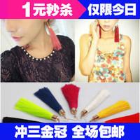 0448 momoko peach emoda murua black vintage tassel earrings multicolor