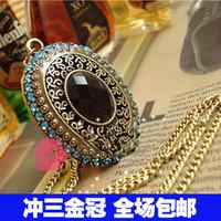 1186 accessories kit vintage baroque royal vintage long necklace elegant big gem