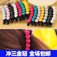 2131 hair accessory hair accessory love heart hairpin banana clip hair clips mushroom side bangs clip female