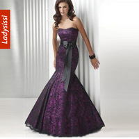 2013 New Fashion Sleeveless Mermaid Evening Dress Celebrity Lace Dress to the Floor Dressing Gown