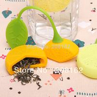Lemon's Tea Infuser Silicone Tea Bags Tea Strainers Filter Tea Bay Bar Tools Drinkware ( mix order 10 usd )