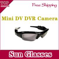 Mini DV DVR Sun Glasses Camera  Audio Video Recorder installed in the Sun Glasses,Free Shipping
