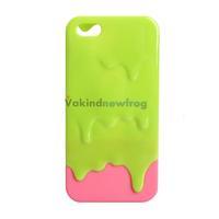 3D Design Melting Ice Cream Hard Case Protector for Apple iPhone 5 Fashion V3NF
