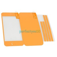 Full Body Leather Skin Film Sticker Cover Protector for iPhone 5 Orange PY5#