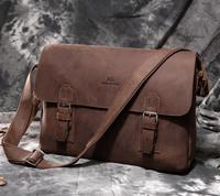 Free Shipping Fashion High Quality Vintage Crazy Horse Leather JMD Men Message Bag Laptop Bag Shoulder Bag Sling Bag #6002LR