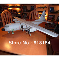 Free shipment  Paper Model airplaner toys A3 Paper 123CM Wingspan 1:33 US C-130 Hercules transport aircraft 3d puzzles big model