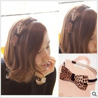 DIY Leopard Bowknot HeadBand Headwear Hair Band Hair Accessory