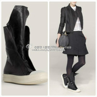 2014 Free shipping high quality 100% genuine leather fashion women ankle boots luxury brand casual boots  big size is available