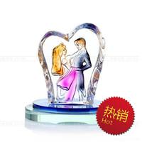 Free shipping car perfume bottle crystal lover shape design  perfume seat air freshener fashion car accessories