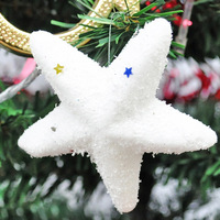 Christmas Decoration Trees Ornaments  Foam Snowflake Pentagram/stars for Gifts 6 Pieces/bag Free Shipping