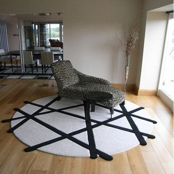 Wool handmade carpet living room coffee table swivel chair carpet fashion modern circle carpet customize