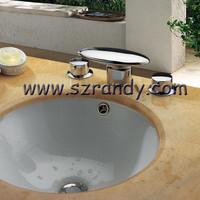 Free shipping High Nice Chrome Basin Sink Waterfall Faucet Mixer Tap LD8005-23A