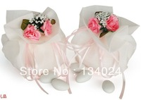 Free shipping very beautiful organza designer wedding candy gift chocolate packaging