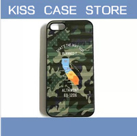Hot selling fashion NBHD NEIGHBORHOOD Camouflage island case for iPhone   5g 5s 5 5c 4s 4 cell mobile phone cover accessories