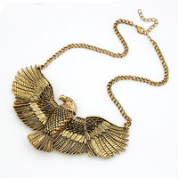 Fashion eagle necklace exaggerated necklace accessories fashion design metal eagle short necklace