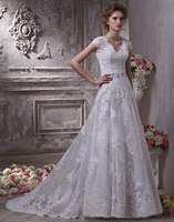 Custom Satin Beads Embroidery bridal gown Wedding Dress 2 4 6 8 10 12 14 16 18