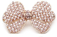 New arrival luxuriouspearls Rhinestone bowknot barrettes pin clips animal hairpins Christmas gift-Free shipping