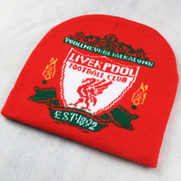 Liverpool autumn and winter warm hats fashion knitted caps Red embroidery letters men and women hat