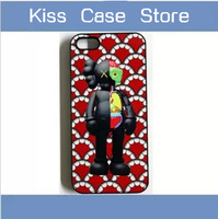 Hot selling fashion OriginalFake kaws toy  case for iPhone   5g 5s 5 5c 4s 4 cell mobile phone cover accessories