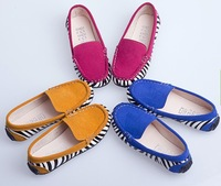Wholesale 2013 popular children zebra peas shoes boy girl Casual boat shoes Free shipping Three colors 5 pieces/lot