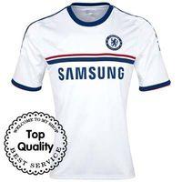 Free Shipping 13/14 Chelsea Away Blank White Jersey 2013-14 Cheap Shirt Soccer Uniforms Football Kit