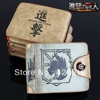 Attack on Titan Shingeki no Kyojin Scouting Corps Faux Leather Wallet Purse Gift Amine Cosplay Free Shipping