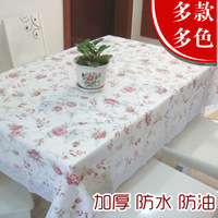 Laciness plastic table cloth eco-friendly thickening pvc dining table cloth waterproof oil disposable round table long table