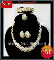 Luxury Jewelry! 18K Gold Plated African Style Wedding Bridesmaid Jewelry Set