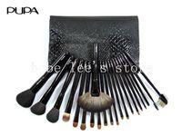 PUPA 21pcs/Set  Brand  Professional Makeup Basic Kit Classic Series Black Imitation Leather Bag Cosmetic Full Set Brushes