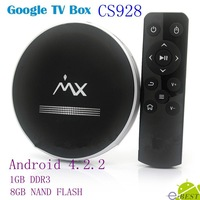 New arrival CS928 Android 4.2 TV Box Smart TV Stick  AML8726-MX 1GB RAM 8GB ROM HDMI AV XBMC set to box Whole sale