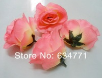 Hot ! 50 Pcs  Artificial Large Rose Flower Head Suitable Wedding Decorative Flowers Dark Pink  9-10cm a0431