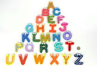 Baby Kids Educational 26X Letters Alphabet   Wooden Fridge Magnet(China (Mainland))