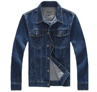 2014 new brand Autumn  winter  outerwear men's clothing denim jacket mens cotton denim plus size  for men 6XL 5XL 4XL 3XL