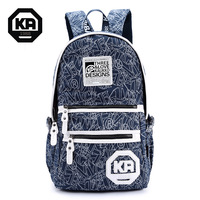 Fashion Canvas Bag Woman Mustache Backpack Girl Student School Bags Campus Satchel for Normal Camping Hiking