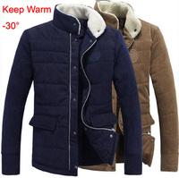 2014 Men's Winter Jacket Fashion Cotton-padded Corduroy Vintage Outerwear Coat Design Wadded Jacket Big Plus Size XXXL Coat