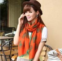 2013 Newest autumn fashion skull cotton scarf big women's printed scarf cape muffler scarf (4 colors)