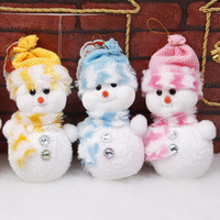 Free Shipping Wholesale Christmas Decorations,Christmas Tree Ornaments,Christmas Snowman Doll 1set/4pcs,Red,Yellow,Blue,Pink