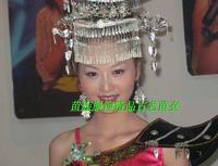 Miao clothes silver miao silver pectinous hat collar costume popular hair accessory