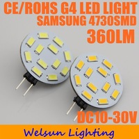 [10pcs/lot]  NEW 12V/24V 12LED SAMSUNG 5730 SMD led G4 lamp