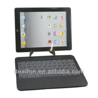 Leather Cover Touch Type Key Bluetooth Keyboard with Tablet Stand Holder for The New iPad iPad4 iPad mini