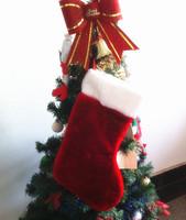 Thick short plush christmas socks small gift candy christmas gift quality Christmas decoration